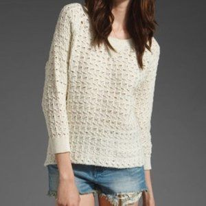 """Joie """"Crawford"""" cotton weave sweater in Chalk Joie"""